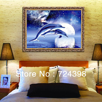 Wholesale 100% Accurate Printed DIY Cross Stitch Kit Embroidery Cross Wall Decor