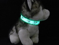 2014 new green  color christmas dog training collar  collar for dogs  collar lights flashing  pet collar S SIZE