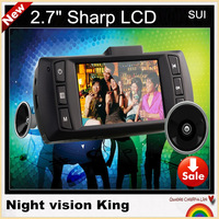 "NEW ARRIVAL!AT500 SUI 2.7"" SHARP LCD Car DVR recorder car camera   HD 1080P 30fps LCD  Wide Angle night vision,free shipping!"