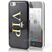 VIP Crown Design Hard Case Cover Skin For Apple iPhone 5C + Screen Protector + free shipping
