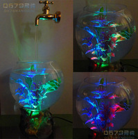 water light water light Magic faucet fish tank suspended faucet lamp led faucet lamp water lights ultralarge