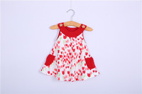 kids sleeveless new 2013 princess dress girl pink patchwork  ball gown