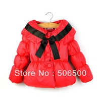 New arrival Free shipping 6pcs/lot  popular baby girl winter Jackets Kids Overcoat baby winter costumes 3colors 2213