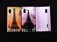 Eiffel Tower Retro Camera Cute Cartoon Animal Pattern New Style Plastic hard Case Cover for LG Optimus L5 E610 / E612
