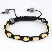 (Min order $10 mix)European and American fashion metal concise skull bracelet+ Free shipping