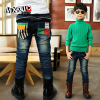 Winter thickening male child plus velvet trousers male child jeans child trousers