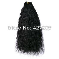 Brazilian Natural Wave Virgin Remy Hair Weaves Human Hair Extensions 12-24 Inch Color 1 # Jet Black