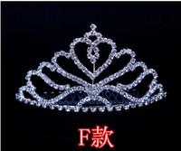 Wedding/Bridal crystal veil tiara crown headband CR012