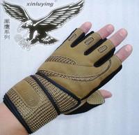 Male fitness gloves sports gloves semi-finger gloves fitness gloves lengthen wrist support