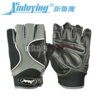 Genuine leather male fitness gloves semi-finger gloves sports gloves wear-resistant breathable