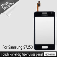 Top Quality  AAA  Full assembly  Replacement Repair Parts For samsung S7250 LCD display touchscreen glass panel Black