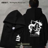 Thickening loose sweatshirt eminem hoodie devil combination bad meets evil lovers zipper outerwear /coat