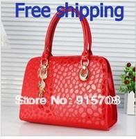 Free Shipping ! 2014 new Ms. handbag patent leather shoulder bag , Ms. Messenger bag 7 color options