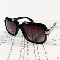 Mc hotdog cazal big box rubric vintage metal sunglasses s0072
