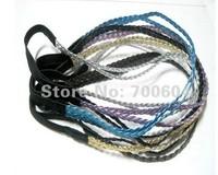 Hot sale PU leather Elastic Braided Headband,10 pcs MOQ,Free shipping