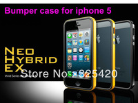 Free shipping New SGP Neo Hybrid EX Vivid Series bumper case for IPhone 5+screen protector,10pcs / lot, no retail box, wholesale