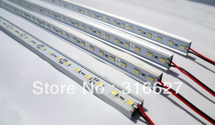 Free HK Post shipping 0.5M/PC 12V led Rigid bar lights 5730 SMD 32LEDS/PC with U aluminum base(China (Mainland))