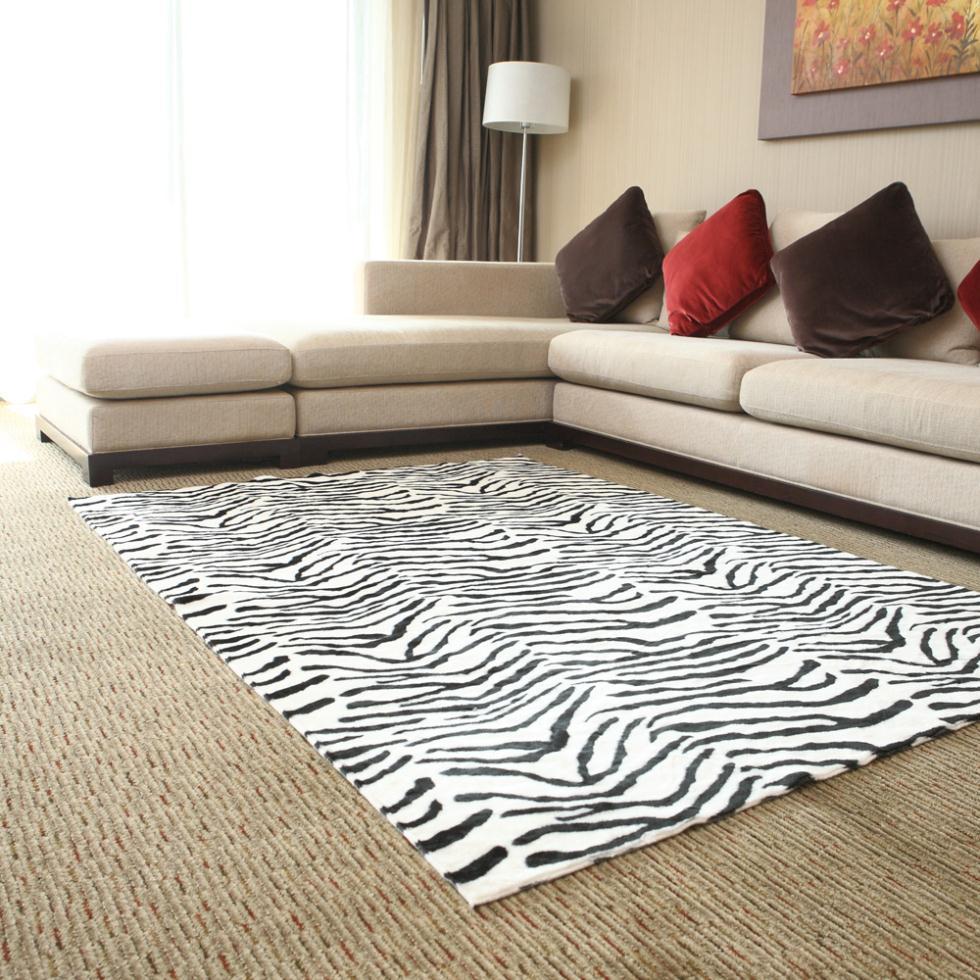 zebra wohnzimmer:Online Kaufen Großhandel Zebra Print Teppich aus China Zebra Print