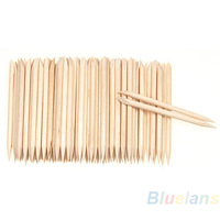 Min. $16 100Pcs Wood Sticks Cuticle Pusher Remover Pedicure Manicure Tool Nail Art  Equipment Health Beauty Sale