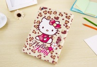 "Wholesale 30pcs/Lot DHL Free 9.7"" Cute Cartoon Hello Kitty PU Leather Folio Case For iPad Air 5 With Stand Card Slots Cases"