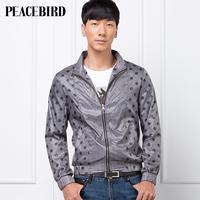 Peacebird 2013 autumn thin jacket polka dot fashion 80512116006