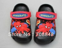 Sell Like Hot Cakes 2014 spider-man Children Sandal/Slippers Shoes size:6C7-12C13