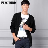 Peacebird men's clothing medium-long sweater male fashionable casual cardigan sweater hh31243114