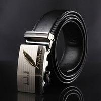 New arrival brand designer genuine leather belts for men mens belts 130cm length soild black cowskin wide belts