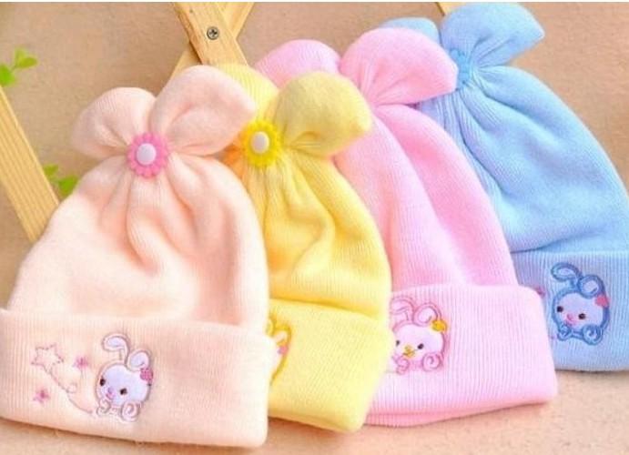 Ultra soft baby hat winter warm hat newborn thickening male cap knitted hat 0 - 6(China (Mainland))