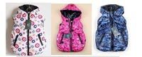 Free shipping  2014 Retail 1 piece Kids flower Winter Jacket Hoodie Letter Print Boy Girls Waist Coat