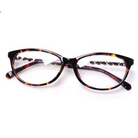 leopard glasses frame women 2013 fashion Designers computer glasses woman metal Chain frames y357