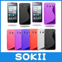 10pcs/lot For Huawei Ascend G510 U8951 T8951 Grip S Line Gel Skin Case Soft Cover