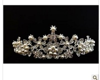 Pearl Princess Crown Headband Hair Clip Wedding Tiara Bride Prom