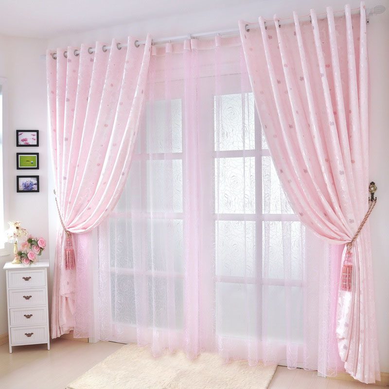 Online get cheap pale pink curtains - Cortinas vintage dormitorio ...