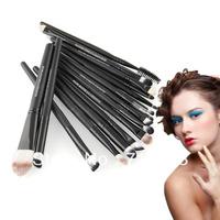 Pro 20pcs Make Up Eyeshadow Eyebrow Mascara Lip Sponge Eyeliner Brushes Set Kit Free shipping