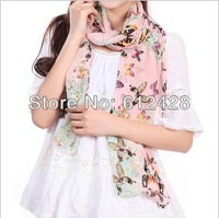 Fashion autumn winter scarf for woman Honey foreign flavor Butterfly Print Scarves amice wholesale