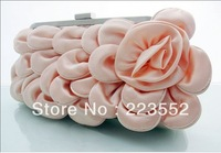 new delicate lady Fancy Flower petal evening bag ,fashion wedding party dress matched bag,free Shiping