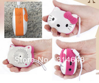 Hello Kitty shaped MP3 player speaker with FM function, USB, TF card port