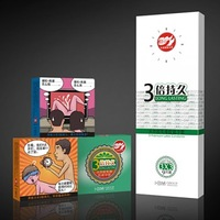 Male lasting delay condoms plolicy thickening of special shaped with safety set