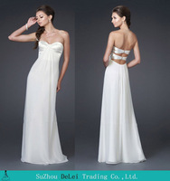 2014 Column Sleeveless Chiffon Floor Length Prom Dress