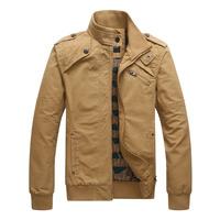 Hot Sale Spring Autumn Men Casual Jacket Soild Color Size M-3XL Black Khaki Green Color Top Quality