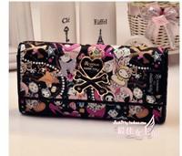 Sanrio Hello Kitty Long Wallet Genuine Leather Wallet Women Brand Wallets Women Clutch Women Purse Real Leather Wallet