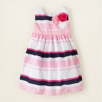 Wholesale + free shipping! The new 2014. The girl's clothes, summer princess stripe dress, children dress, dress of the girls.