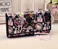 Sanrio Hello Kitty new 2014  Long Wallet Genuine Leather Wallet Women Brand Wallets Women Clutch Women Purse Brand Wallet