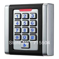 Square waterproof metal access control keypad K6EM-W