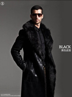 100% Fashion promotion Genuine Natural Mink Fur Man Coat Long Fur Coats Jackets FEDEX/EMS Free Shipping