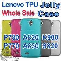 Wholesale 10PCS / LOT For Lenovo A850 silicon case TPU  Hard Case For P780 P770 K900 A820 A830 S920 S820 S750 S720 A820 A660 A66