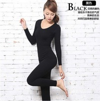 Free Shipping ! Women's winter clothing bamboo Long John john body Shaper Seamless thermal underwear suits shape wear jumpsuit