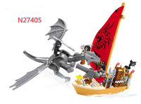 Ausini Building Block Toy Pirate Ship Series Tyrannosaurus Knight Construction Sets Educational Bricks Toys for Children