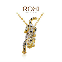 2014 ROXI brands  fashion  necklace/Chrismas gifts, Austrian crystal,fashion Environmental  women LeopardJewelry,2030044855A